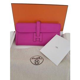 Hermès-JIGE Magnolia Pochette-Rose