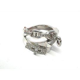 Hermès-white gold and diamond Alchimie Ring-Silvery