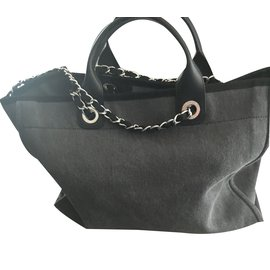 Chanel-Totes-Dark grey