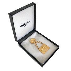 Chanel-Broche sac-Doré