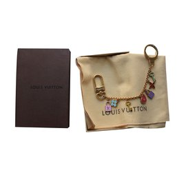 Louis Vuitton-Key Holder and Bag Charm-Pink,Blue,Golden,Green,Yellow