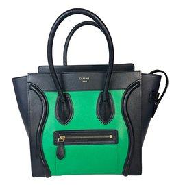 Céline-Luggage-Noir,Vert