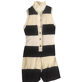Chanel-Jumpsuits-Black,Cream