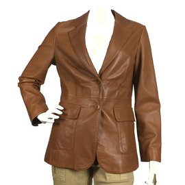 Brook Brothers-Vestes-Caramel