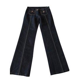 Louis Vuitton-Jeans-Doré,Bleu Marine