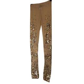 Pinko-Pants, leggings-Beige