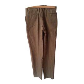 Hermès-Pantalons homme-marron clair