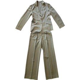Emporio Armani-Tailleur pantalon-Kaki