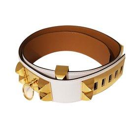 Hermès-Collier de Chien-Blanc