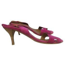 Hermès-Sandales-Rose