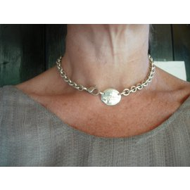 Tiffany & Co-Collier Oval Tag Return to-Argenté