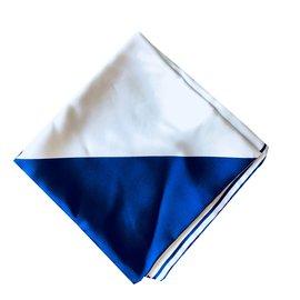 Chanel-Carré de soie-Blanc,Bleu