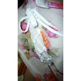 Autre Marque-tunique fleurs Elly-Blanc