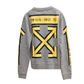 Off White-Sweat homme-Gris