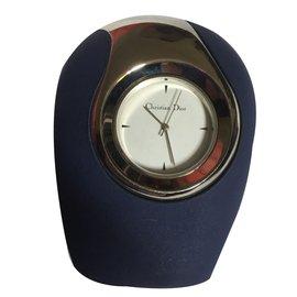 Christian Dior-Montre Horloge de bureau-Bleu