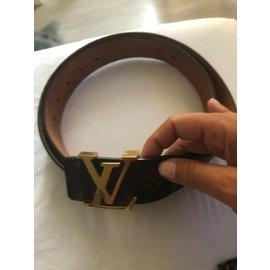 Louis Vuitton-Ceintures-Marron foncé
