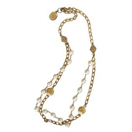 Chanel-Vintage long necklace-Golden