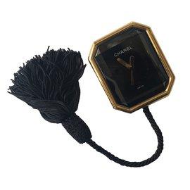 Chanel-Fine watches-Black,Golden