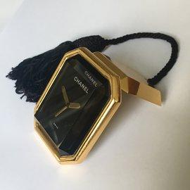 Chanel-Chanel Montre/Réveil modèle Première-Noir,Doré