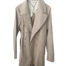 One step-Trench-coat one step beige-Beige