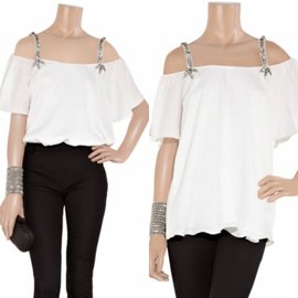 Temperley London-Tops-Cream