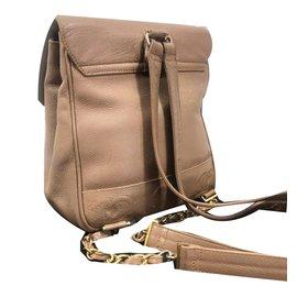 Chanel-Backpacks-Light brown