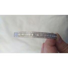 inconnue-bracelet rigide diamants-Argenté