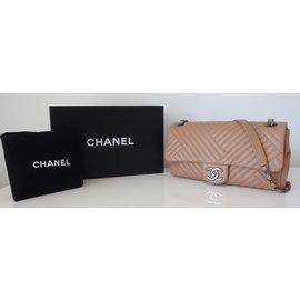 Chanel-SAC CHANEL CLASSIQUE BEIGE-Beige