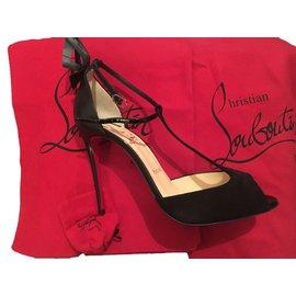 6c2d4473755f Louis Vuitton monogram sandals. Excellent. Christian Louboutin-Aribak  100-Black ...