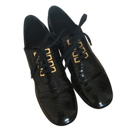 Chanel-Lace ups-Black