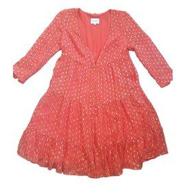 SéZane-Dresses-Red,Golden