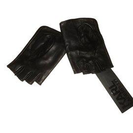 Karl Lagerfeld-Gants-Noir