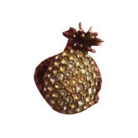 Gucci-Bague ananas en métal avec cristaux-Doré,Autre,Jaune