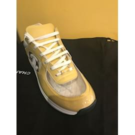Chanel-sneakers-Yellow