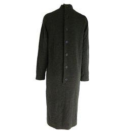 Oscar de la Renta-Wool Dress-Dark grey