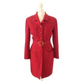 Chanel-Vintage Coat-Red