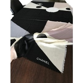 Chanel-Scarves-Black