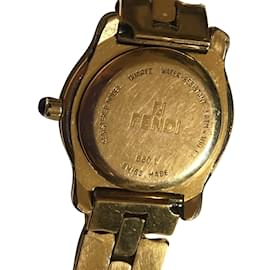 Fendi-Quartz plaqué or 860L-Doré
