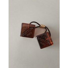 Louis Vuitton-Bijoux de tête-Marron foncé