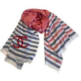 Chanel-Scarves-Red