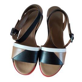 Hermès-Sandales-Multicolore