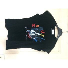 "Yves Saint Laurent-Tee shirt noir Collector et vintage ""Moujik"" Bulldog-Noir"