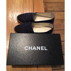 Chanel-Espadrilles-Navy blue