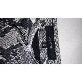 Gucci-Pantalons-Imprimé python