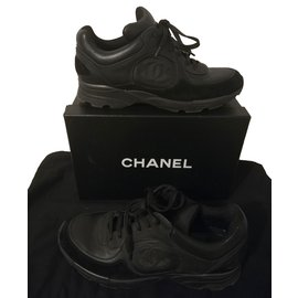 Chanel-Baskets-Noir