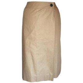 Hermès-jupe crayon-Beige