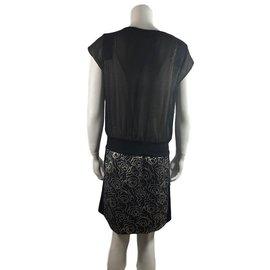 Cop Copine-Dress-Black,Golden