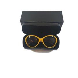 Chanel-Lunettes de soleil-Jaune