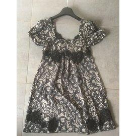 Dolce & Gabbana-Robe en soie-Noir