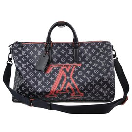 Louis Vuitton-Keepall 45-Bleu Marine